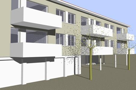 Neubau eines Wohnhauses mit zwölf Wohneinheiten inSchemmerhofen